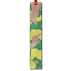 Camouflage Green Yellow Brown Large Book Marks by Mariart