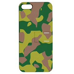 Camouflage Green Yellow Brown Apple Iphone 5 Hardshell Case With Stand by Mariart