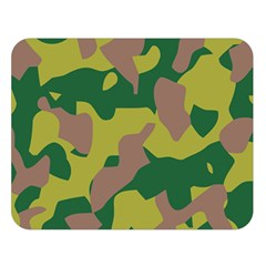 Camouflage Green Yellow Brown Double Sided Flano Blanket (large)  by Mariart