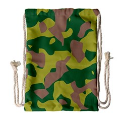 Camouflage Green Yellow Brown Drawstring Bag (large) by Mariart