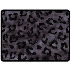 Skin5 Black Marble & Black Watercolor Double Sided Fleece Blanket (large) by trendistuff