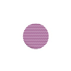 Chevron Wave Purple White 1  Mini Buttons by Mariart
