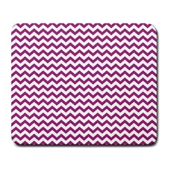 Chevron Wave Purple White Large Mousepads by Mariart