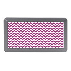 Chevron Wave Purple White Memory Card Reader (mini) by Mariart