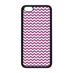 Chevron Wave Purple White Apple Iphone 5c Seamless Case (black) by Mariart
