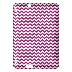 Chevron Wave Purple White Kindle Fire HDX Hardshell Case by Mariart