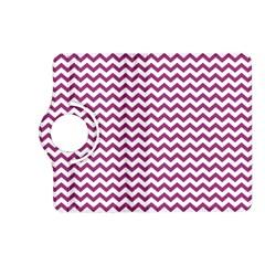 Chevron Wave Purple White Kindle Fire HD (2013) Flip 360 Case by Mariart