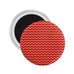 Chevron Wave Red Orange 2 25  Magnets by Mariart