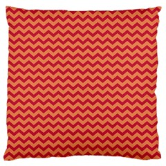 Chevron Wave Red Orange Large Cushion Case (one Side) by Mariart