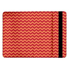 Chevron Wave Red Orange Samsung Galaxy Tab Pro 12 2  Flip Case by Mariart