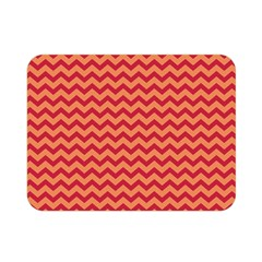 Chevron Wave Red Orange Double Sided Flano Blanket (mini)  by Mariart