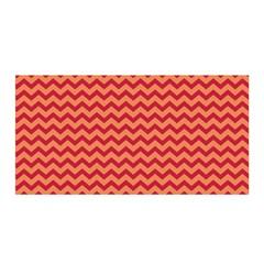 Chevron Wave Red Orange Satin Wrap by Mariart