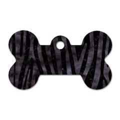 Skin4 Black Marble & Black Watercolor (r) Dog Tag Bone (one Side) by trendistuff