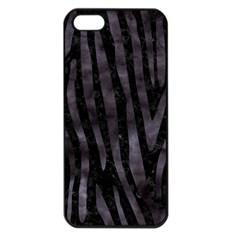 Skin4 Black Marble & Black Watercolor (r) Apple Iphone 5 Seamless Case (black) by trendistuff