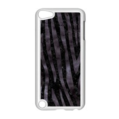 Skin4 Black Marble & Black Watercolor (r) Apple Ipod Touch 5 Case (white) by trendistuff