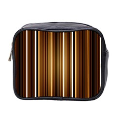 Brown Line Image Picture Mini Toiletries Bag 2 Side by Mariart