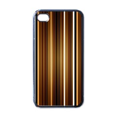 Brown Line Image Picture Apple Iphone 4 Case (black) by Mariart