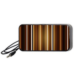 Brown Line Image Picture Portable Speaker (black) by Mariart