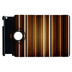 Brown Line Image Picture Apple Ipad 3/4 Flip 360 Case by Mariart