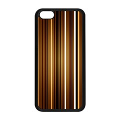 Brown Line Image Picture Apple Iphone 5c Seamless Case (black) by Mariart