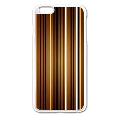 Brown Line Image Picture Apple Iphone 6 Plus/6s Plus Enamel White Case by Mariart