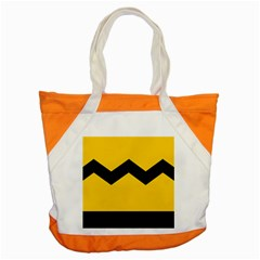 Chevron Wave Yellow Black Line Accent Tote Bag by Mariart