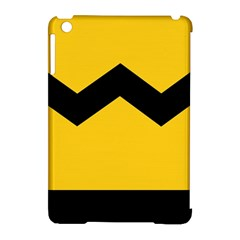 Chevron Wave Yellow Black Line Apple Ipad Mini Hardshell Case (compatible With Smart Cover) by Mariart