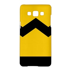 Chevron Wave Yellow Black Line Samsung Galaxy A5 Hardshell Case  by Mariart