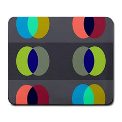 Circles Line Color Rainbow Green Orange Red Blue Large Mousepads by Mariart
