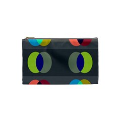 Circles Line Color Rainbow Green Orange Red Blue Cosmetic Bag (small)  by Mariart