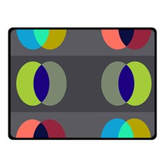 Circles Line Color Rainbow Green Orange Red Blue Fleece Blanket (small)