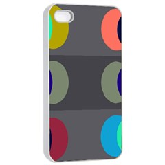 Circles Line Color Rainbow Green Orange Red Blue Apple Iphone 4/4s Seamless Case (white) by Mariart