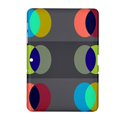 Circles Line Color Rainbow Green Orange Red Blue Samsung Galaxy Tab 2 (10 1 ) P5100 Hardshell Case  by Mariart