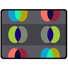 Circles Line Color Rainbow Green Orange Red Blue Double Sided Fleece Blanket (large)  by Mariart