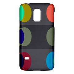 Circles Line Color Rainbow Green Orange Red Blue Galaxy S5 Mini by Mariart