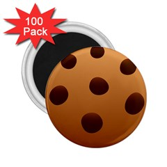 Cookie Chocolate Biscuit Brown 2 25  Magnets (100 Pack)  by Mariart