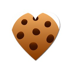 Cookie Chocolate Biscuit Brown Heart Magnet by Mariart