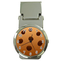 Cookie Chocolate Biscuit Brown Money Clip Watches by Mariart