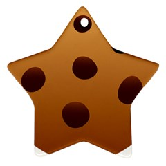 Cookie Chocolate Biscuit Brown Star Ornament (two Sides) by Mariart