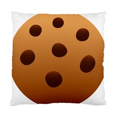 Cookie Chocolate Biscuit Brown Standard Cushion Case (two Sides) by Mariart