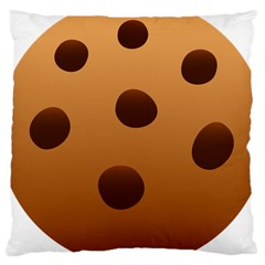 Cookie Chocolate Biscuit Brown Large Cushion Case (one Side) by Mariart