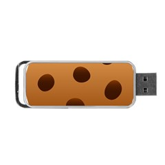 Cookie Chocolate Biscuit Brown Portable Usb Flash (two Sides) by Mariart