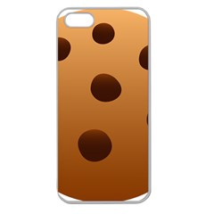 Cookie Chocolate Biscuit Brown Apple Seamless Iphone 5 Case (clear) by Mariart