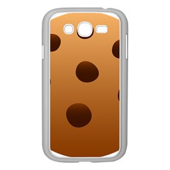 Cookie Chocolate Biscuit Brown Samsung Galaxy Grand Duos I9082 Case (white) by Mariart