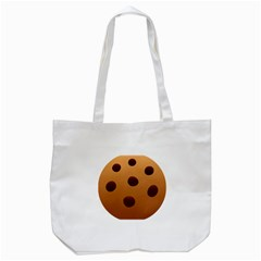 Cookie Chocolate Biscuit Brown Tote Bag (white) by Mariart