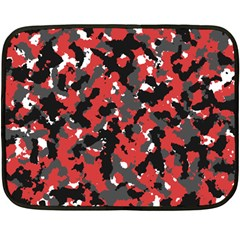 Bloodshot Camo Red Urban Initial Camouflage Double Sided Fleece Blanket (mini)  by Mariart