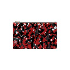 Bloodshot Camo Red Urban Initial Camouflage Cosmetic Bag (small)  by Mariart