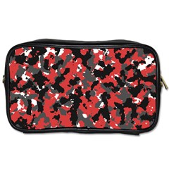 Bloodshot Camo Red Urban Initial Camouflage Toiletries Bags by Mariart