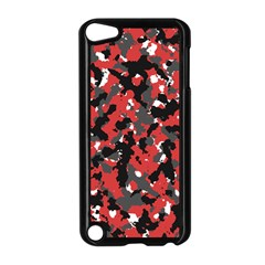 Bloodshot Camo Red Urban Initial Camouflage Apple Ipod Touch 5 Case (black) by Mariart
