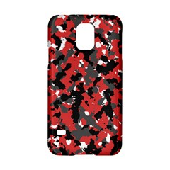 Bloodshot Camo Red Urban Initial Camouflage Samsung Galaxy S5 Hardshell Case  by Mariart